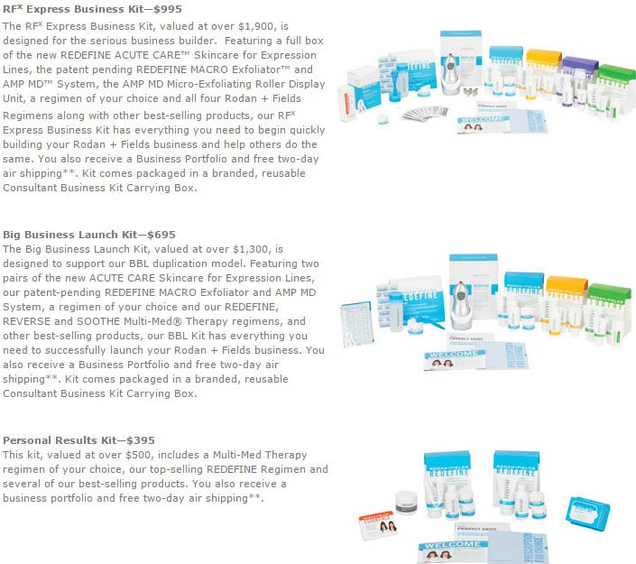 Rodan and Fields upsells