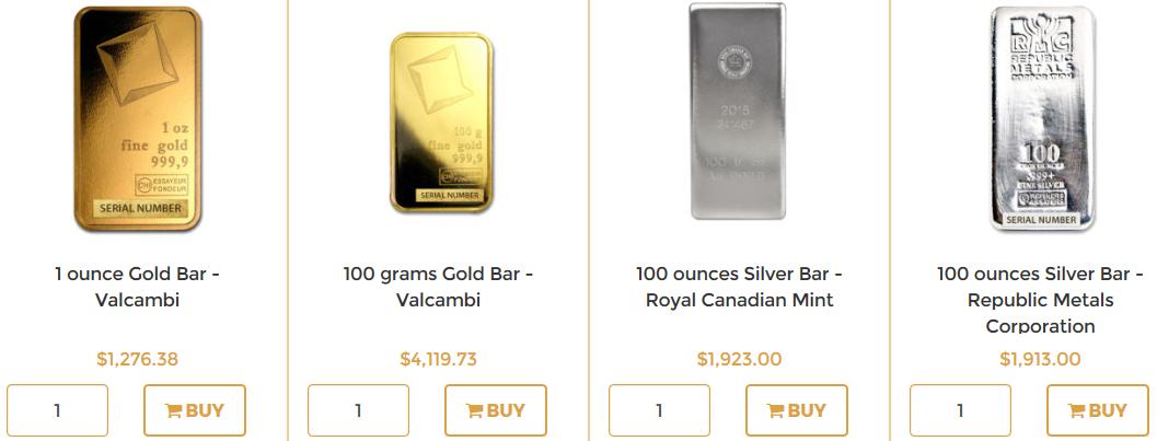 gold silver platinum paladium