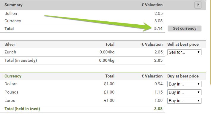 bullionvault free money