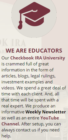 is checkbook ira a scam