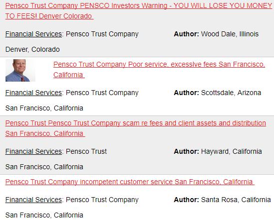 pensco trust complaints