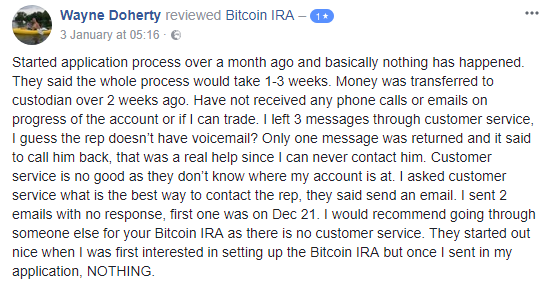 is bitcoin ira a scam