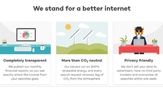 ecosia benefits